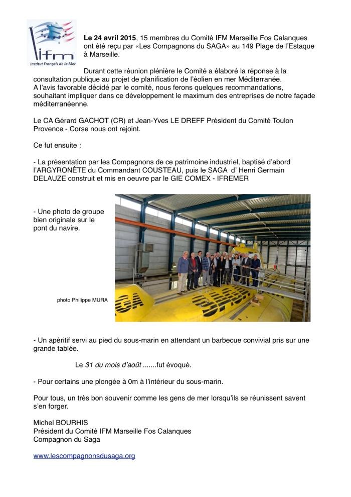 Le Comité IFM Marseille-Fos-Calanques avec les Compagnons
