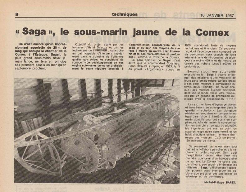 sous marin jaune cx 87